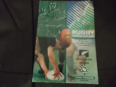 Mega Rare 1995 Rugby World Cup Programme New Zealand V Ireland @ Johannesburg