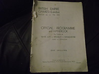 Rare Pre War British Empire Games London 4-11Th August 1934 Official Programme