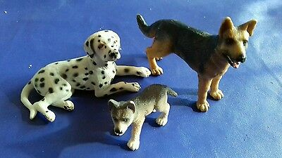 Schleich Retired dogs boxer pup and alsation Germany