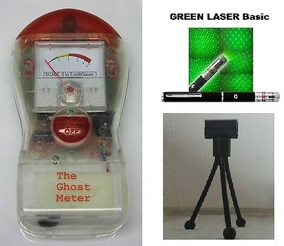 GHOST METER, LASER GRID and TRIPOD KIT Ghost Hunting Paranormal Equipment