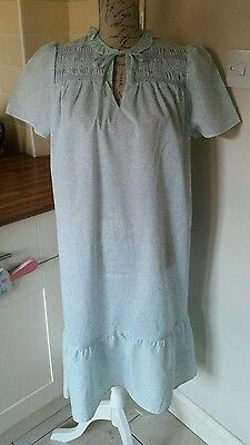 Vintage St Michael Cotton Nightdress Nightie Size 12