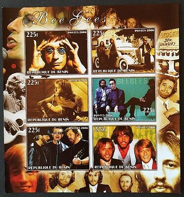 Bee Gees Music People Prominente Benin 2006 MNH ** KB Sheet IMPERF