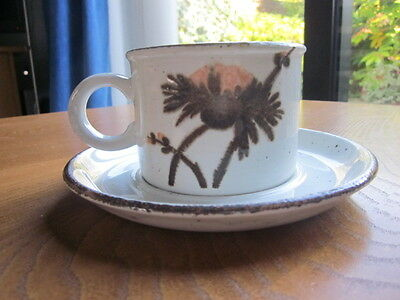 Vintage Midwinter cup and saucer. Rare Design. VGC