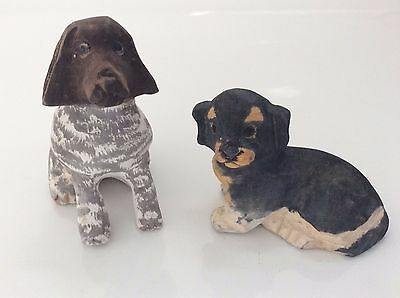 Handcarved Wooden Dogs- Cute Gift, Decoration