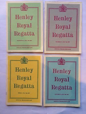 Henley Rowing Regatta Four Days Official Programmes 1997