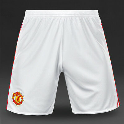 (2) Bnwt Men's Adidas 2016 Manchester United Home Shorts White/red - Size L