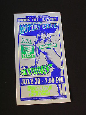 MOTLEY CRUE AND SCORPIONS Psychedelic Postcard by MARK ARMINSKI