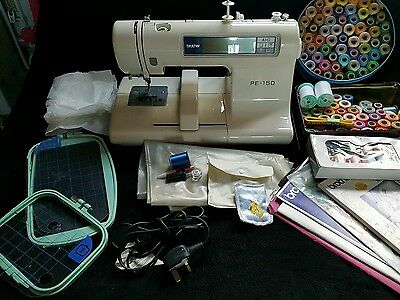 brother pe 150 computerises embroidery machine