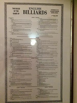 Snooker and Billiards Framed Rules