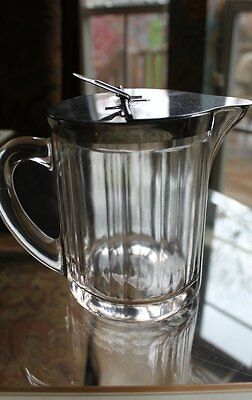 1951 Bloomfield McKee Glass Syrup Pitcher Container
