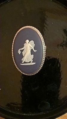 Gorgeous Sterling Silver Wedgwood Brooch