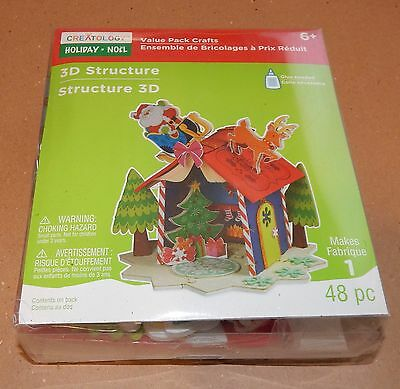 Christmas 3D Structure Foam Kit Stickers Creatology 48pc Gingerbread House 92C