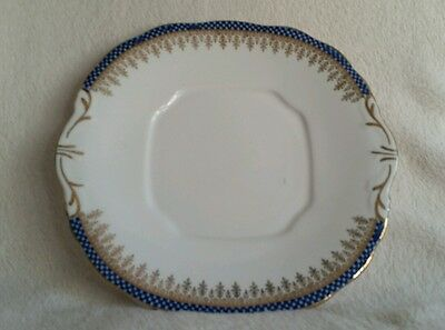 Imperial Bone China hand gilded cake plate