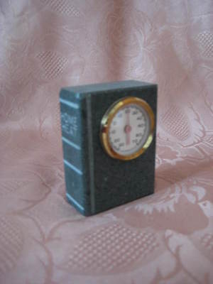 VINTAGE Handcrafted  Home Thermometer by SA 450 Million years old Slate