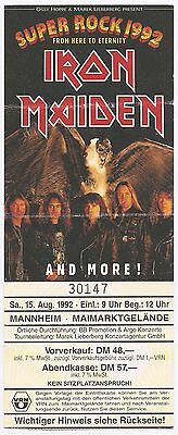 Iron Maiden    In Concert 1992    Ticket / Konzertkarte / Eintrittskarte