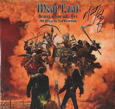 Meatloaf REAL hand SIGNED 2016 Braver Than We Are Vinyl Record 2 LP Gatefold COA
