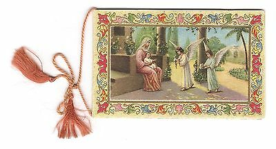 Colorful 1931 Catholic Pocket Calendar Printed in Italy 14 pages w daily Saint