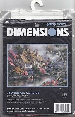 Dimensions - 'Stonewall Cottage' - embellished crewel embroidery kit