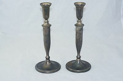 2 Silver Plated Candle Sticks