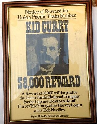 Old West Cowboy Wanted Poster Framed