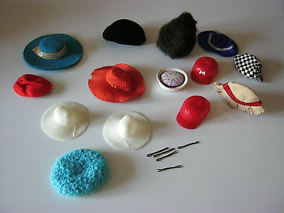 vintage lot de chapeaux barbie  francie  ponytail . bubble cut american girl