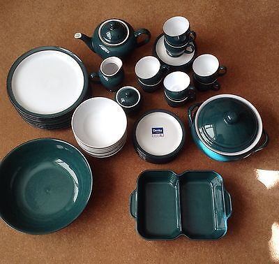DENBY GREENWICH 8 PERSON DINNER SET Some New