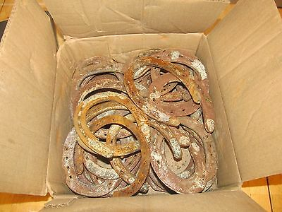30 Used steel horseshoes. rusty rustic art country welding craft decor junk etc.