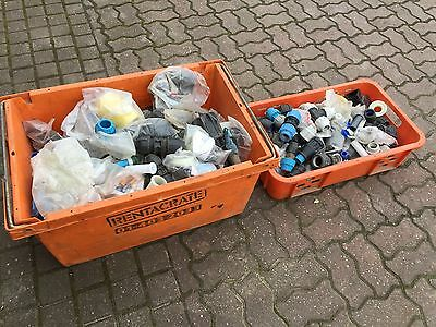 Large Quantity MDPE Plastic Water Pipe Fittings Mostley New