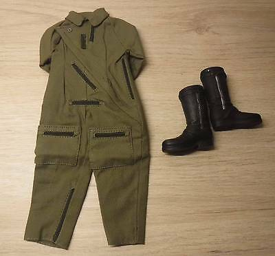 1/6 Scale german Lutwaffe Flight Suit + pilot boots Dragon (No DID, 3R, Damtoys)