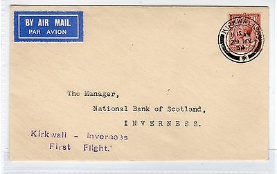 Scot - Kirkwall: 1934 First Flight Cover To Inverness (C23379)