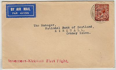 Scot - Inverness: 1934 First Flight Cover To Kirkwall (C23380)