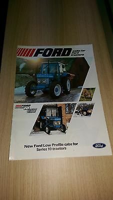 Ford New Holland 3610 4110 4610 5610 6610 7610 6710 7710 tractor cabs brochure