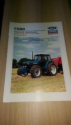 Ford New Holland 5640 6640 7740 7840 8240 8340 tractor  brochure 40 series