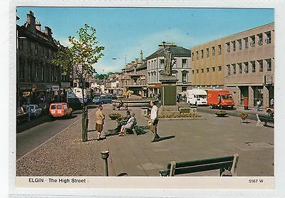 THE HIGH STREET, ELGIN: Morayshire postcard (C23282)