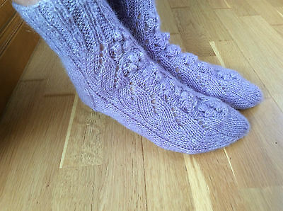 New wool hand knitted socks - Size 6-7 UK (39-40 EU) - 100% wool - Perfect Gift