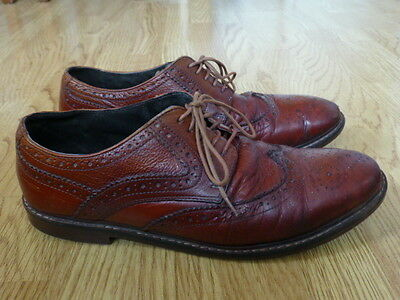 M & S Men's Brown Leather Shoes Size 11