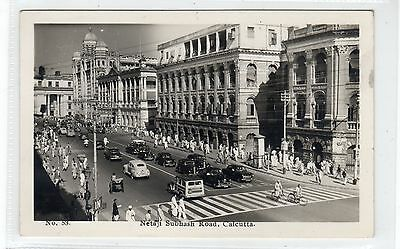 NETAJI SUBBASH ROAD, CALCUTTA: India postcard (C23329)