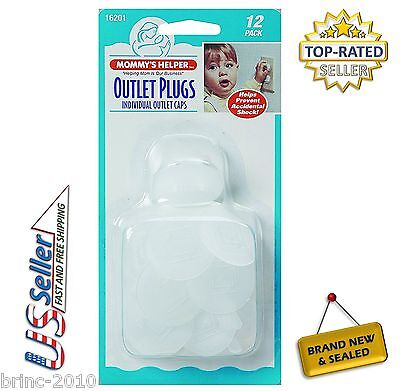 Mommy's Helper Outlet Plugs 12 Pack **Fast Free US Shipping**