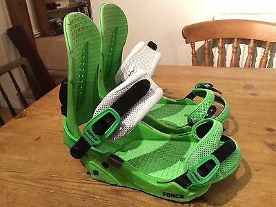 Union Force M/L Mens Snowboard Bindings, Good Condition