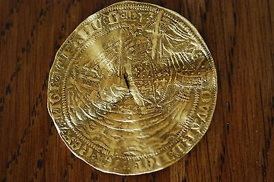 Great Britain Edward III 1351-1353 Pre Treaty 4th Coinage Gold Noble Very Rare