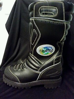 NWT Firefighter Boots 15 Inch Leather Pull Up Men's 6M Steel Toe Fire Resistant