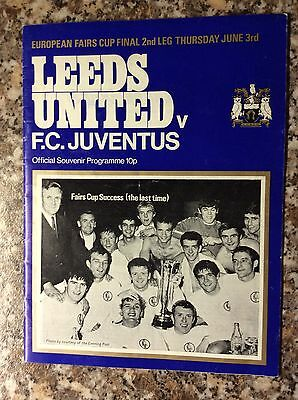 Leeds United v Juventus Fairs Cup Final 2nd Leg 1971 signed By John Charles