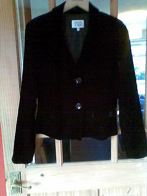 Excellent Condition Girls 14A Emporio Armani Junior Black Velvet Fitted Jacket