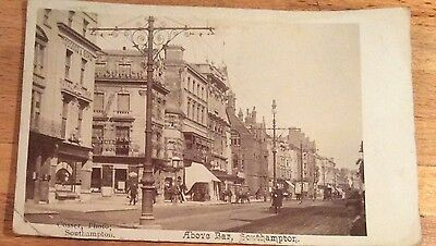 REAL PHOTO POSTCARD ABOVE BAR SOUTHAMPTON Posted 1905