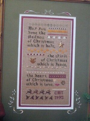 Heart in Hand A Christmas Wish cross stitch chart