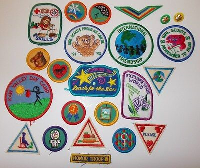 Girl Scouts Assorted Lot Of Badges Patches Awards