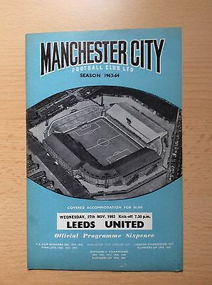 Manchester City V Leeds United Football League Cup 1963