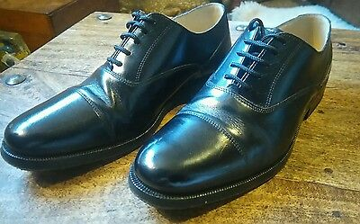 Mens Clarks Lace Up Leather Oxford / Toe Cap Shoes - Size 7