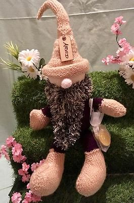 Give a Gnome a Home: Handmade Knitted Gnome, Alvid - Perfect Soft Toy Gift