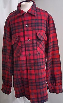 Vintage Pendleton wool shirt Bushcraft old time camping Medium size lovely kit !
